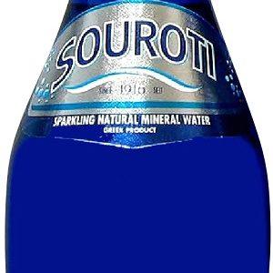 Souroti Sparkling 250ml blue glass bottle