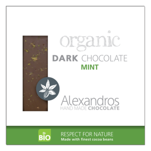 Alexandros Organic Dark chocolate 70% with mint