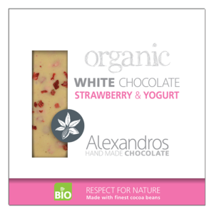 Alexandros Organic White Chocolate with Strawberry & Yogurt